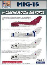 H-Model Decals 1/48 Mikoyan MiG-15 in CzAF, Pt.2 # 48016