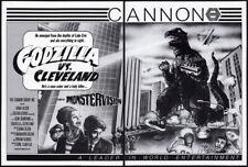 GODZILLA vs. CLEVELAND__Orig. 1985 Trade AD promo / poster_unproduced__ IT ATE..