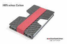 Carbon Credit Card Case Genuine Carbon - with Money Clip - Rfid - NFC Protection