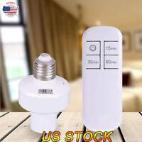Remote Control Light Lamp Socket E26/E27 Screw Wireless Holder Bulb Cap Switch