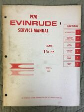 1970 EVINRUDE SERVICE MANUAL MATE 1 1/2 HP MODEL 1002 OUTBOARD SHOP REPAIR