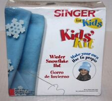 NEW SINGER for Kids Kids' Kit Make-Your-Own Winter Snowflake Hat Age 8+ FREE Shp