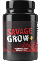 BRAND NEW Savage Grow Plus 60 Capsules
