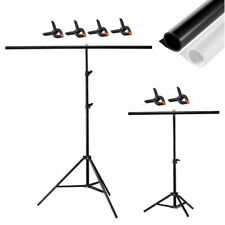 T-Shape Backdrop Stand/ PVC Matte&Glossy Background for Photo Studio Photography