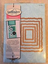 Spellbinder Nestabilities Dies Large Deckled Rectangles (5 Templates) S4-202 New