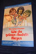 orig Kino Plakat - Die tollen Charlots - Wo die grünen Nudeln fliegen 1973 (A1)