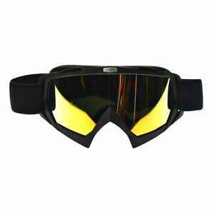 Motorcycle Goggles Riding Motocross Snowmobile Dirt Bike Off Road ATV Red Lens