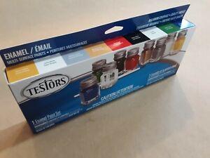 LOT OF 6 - Testors 9146XT  Enamel Paint Sets