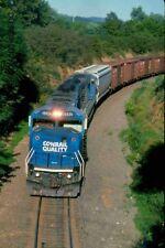ORIGINAL SLIDE CONRAIL SD60M 5542 NS TRAIN 456 LINDEN VA 1995