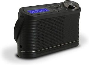 **FREE POST** Roberts Radio PLAY10 DAB/FM Portable Digital Radio LCD - Black