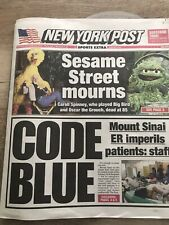 December 9 2019 New York Post Jets NFL Carroll Spinney Sesame Street Big Bird