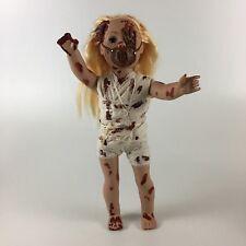 "Tortured Creepy Doll Halloween Haunted Prop Ooak Terror Doll 18"""