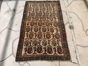 3x5ft. Handmade Boteh Kurdish Wool Rug