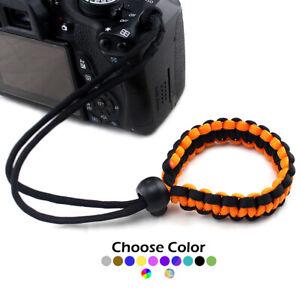 Paracord Adjustable Camera Device Wrist Strap Bracelet 550 paracord lanyard