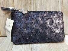 Ann Taylor Loft Mini Wallet Case Purple Sequined - B31