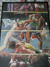 Ernie Barnes Limited Edition Signed Olympic (Boxing) Poster #ed 178/300  Rare