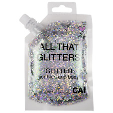 Silver Glitter Easy To Apply Remove Chunky Glitter For Body Face And Hair Bag