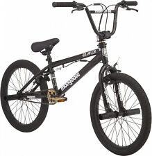 Mongoose BRAWLER Boys BMX Bike, Steel freestyle frame, Single Speed, Black,20