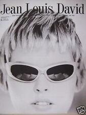PUBLICITÉ 1997 L'ORÉAL JEAN LOUIS DAVID COLORATION ET PERMANENTE - ADVERTISING