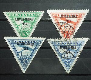 Local Latvia 1933 Overprint Latvija Afrika Used