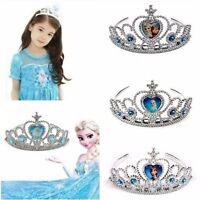 Girls Frozen Princess Figures Cosplay Costume Crown Tiara Headband Toy Xmas Gift