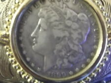 1899s Morgan Silver Dollar on a BELT BUCKLE