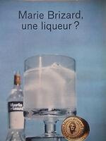 PUBLICITÉ DE PRESSE 1966 LIQUEUR MARIE BRIZARD - ADVERTISING