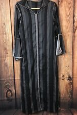 Long Goth Vintage Hood 3 Button Cloak Cape Coat Womens Striped Pullover Stretch