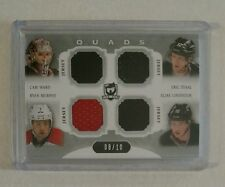 2013-14 The Cup Quads Jersey Cam Ward Murphy Eric Staal Lindholm #08/10