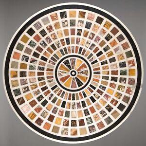 """30"""" Marble Table Top Pietradura semi precious multi color stones Inlay Work"""