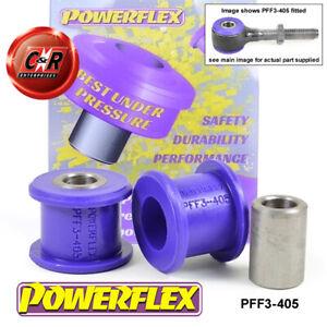 PFF3-405 Powerflex For Audi 100 4WD + Est 44 C3 10/84-11/90 SteerArm-Rack Bushes