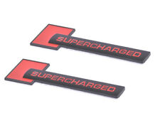 2x Supercharged Badge Emblems 3D Decal for Audi TT A3 A4 A5 A6 A7 A8 Black Red