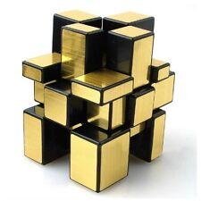 Shengshou Smooth Mirror 3x3x3 Golden Cube Speed Twist Magic Bump Puzzle Kid Gift