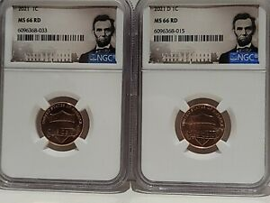 2021 P & D - Lincoln Shield Cent Set - Lincoln Cent NGC MS66 2020 Error