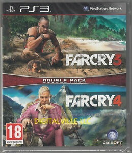 Far Cry 3 and Far Cry 4 PS3 Double Pack Brand New Factory Sealed PlayStation 3