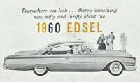 1960 Ford Edsel Ranger Villiager Quick Facts Sales Brochure Original Vintage E-1