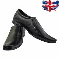 Mens Shoes NEW Black Smart Wedding Suit Slip-on Leather All Size Formal Dress