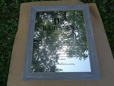 DR MCGILLICUDDY'S WORLD FAMOUS LAST WILL TESTAMENT FRAMED MIRROR - NEW! 21X25 IN