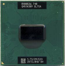 Intel Pentium M CPU 1.73 GHz / 2M / 533 Mhz No.740 Mobile Processor SL7SA