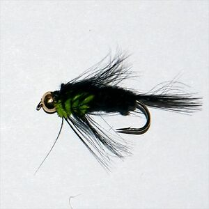 MONTANA LIME GREEN THORAX GOLD HEAD NYMPH  LS Trout & Grayling Fly fishing flies