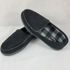 Clarks Mens Sz 11 M Black Leather Outdoor Sole Slippers Medium  GF2448M (L)
