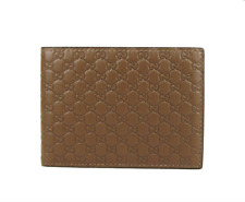 Gucci Men's Brown Microguccissima Leather Bi Fold Wallet