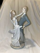 Lladro I Love You Truly 1528 Porcelain Wedding Couple Dancing Bride Groom