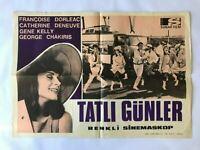 YOUNG GIRLS OF ROCHEFORT 1960s Original Turkish Movie Poster CATHERINE DENEUVE