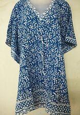 Cotton Hand Block Beach wear Short Maxi Boho Kimono Kaftan Bikini Abaya Cover Up