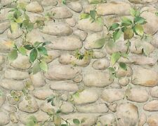 Tapete Mauer Kieselstein Efeu beige grau 8344-16 (1,77€/1qm)