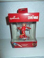 Hallmark Cival War Iron Man Christmas Tree Ornament