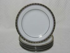 5 Noritake Legacy Platinum Dinner Plates 4281, Contemporary