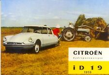 Citroen DS19 - Modern postcard by Vintage Ad Gallery