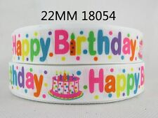 "Happy Birthday Ribbon 7/8"" Wide NEW UK SELLER FREE P&P"